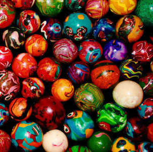 FIMO clay beads